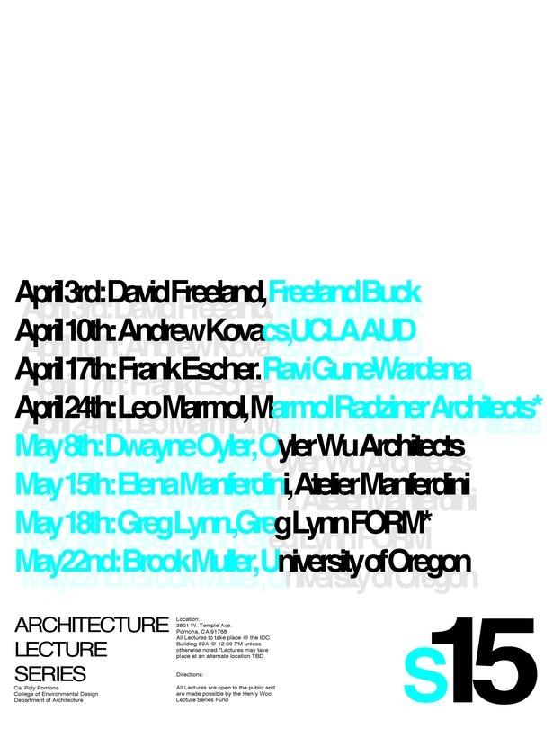 Poster designed by first-year undergraduate architecture student Tyler Liang.