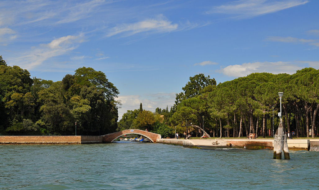 """The title of the 2016 Venice Biennale will be """"Reporting from the Front."""" Image: the Giardini della Biennale, via Wikipedia"""