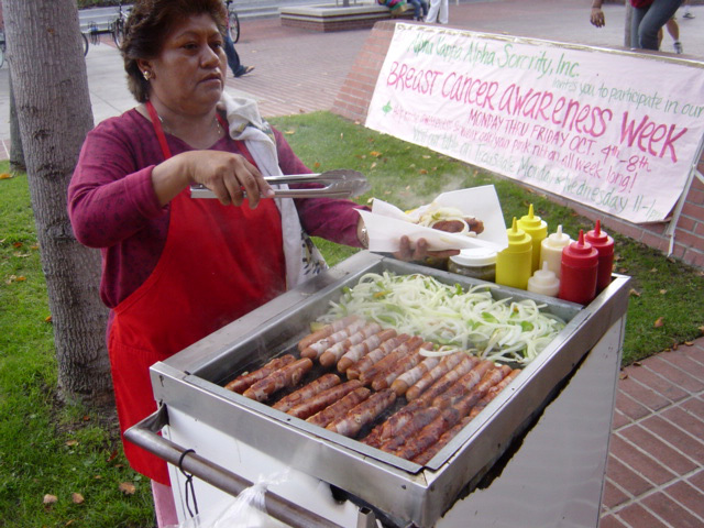 Street vendor in LA via wikicommons