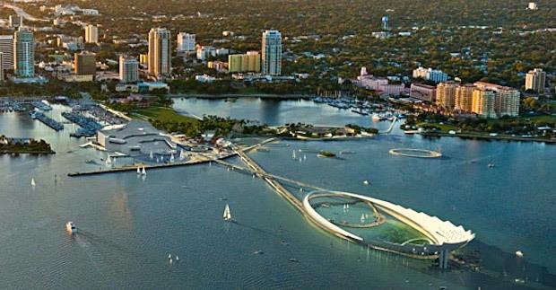 Michael Maltzan Architecture's finalist pier design for St. Petersburg, Florida