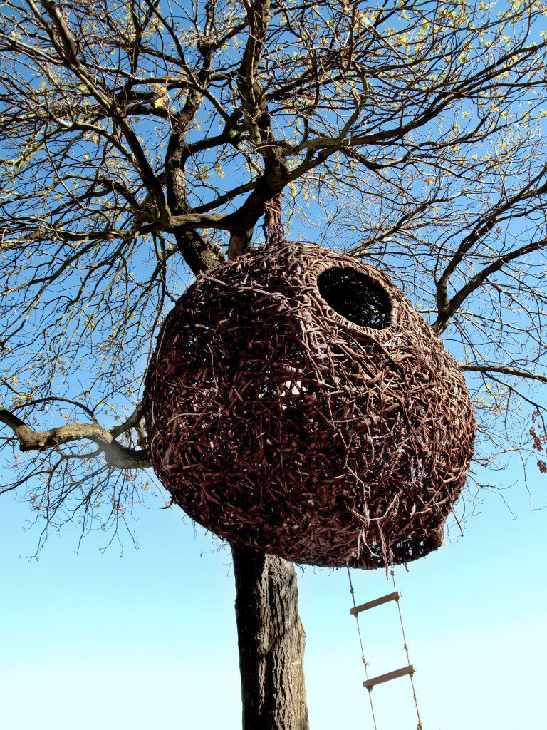 Porky Hefer's design, made from Port Jackson willow, an invasive plant.
