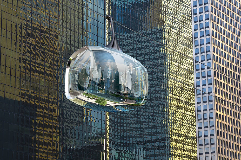The Aerial Cable Car. Rendering: Marks Barfield Architects and Davis Brody Bond.