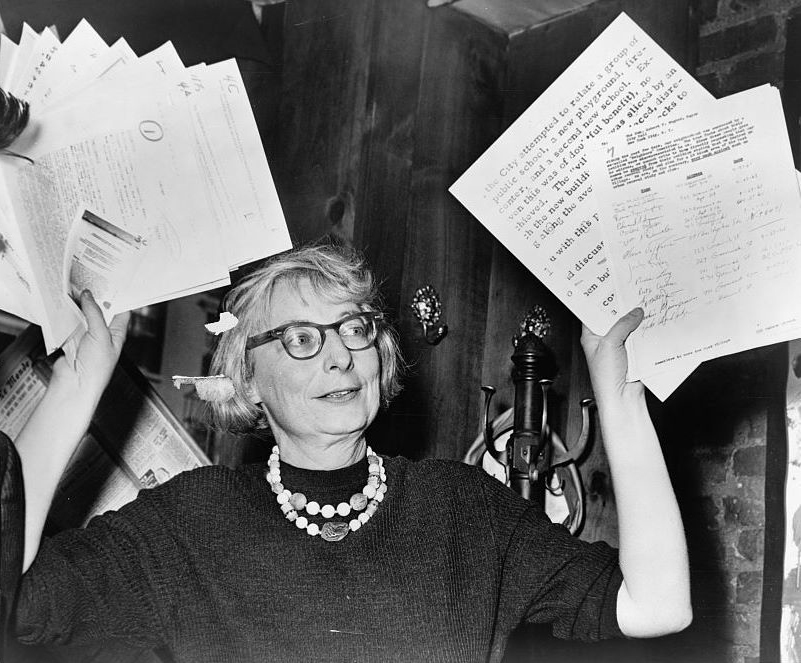 Jane Jacobs organizing to save the West Village in 1961. (Photo: Wikipedia)