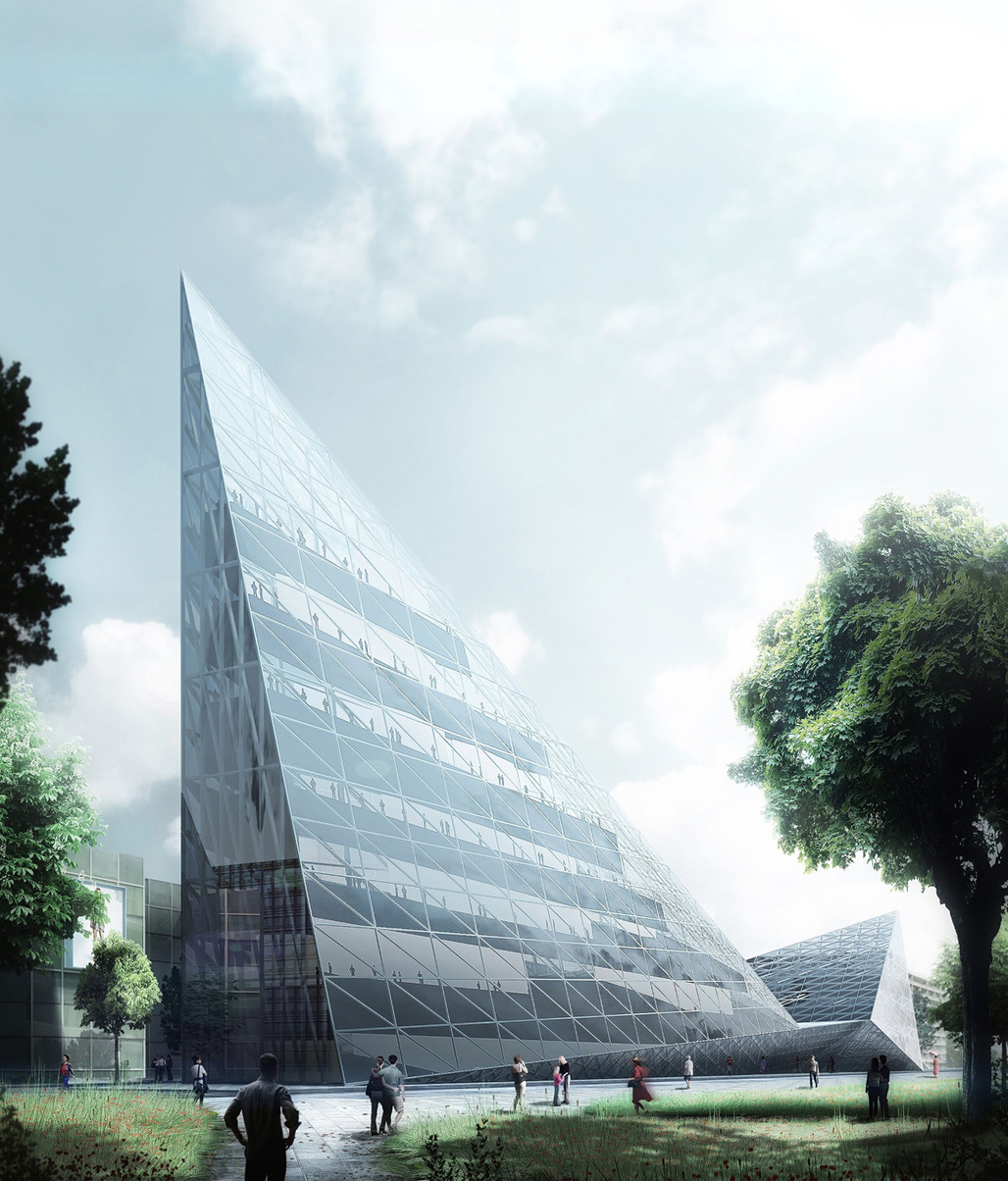 New NCCA (National Center for Contemporary Arts) competition entry by AND-RÉ. Image courtesy of AND-RÉ.