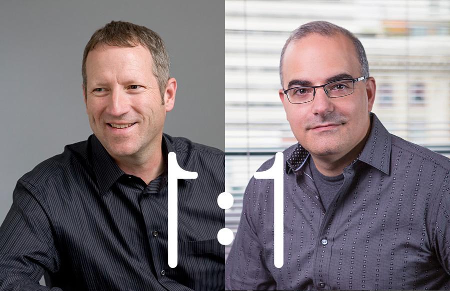NBBJ Managing Partner Steve McConnell (left) and John SanGiovanni, Visual Vocal co-founder.