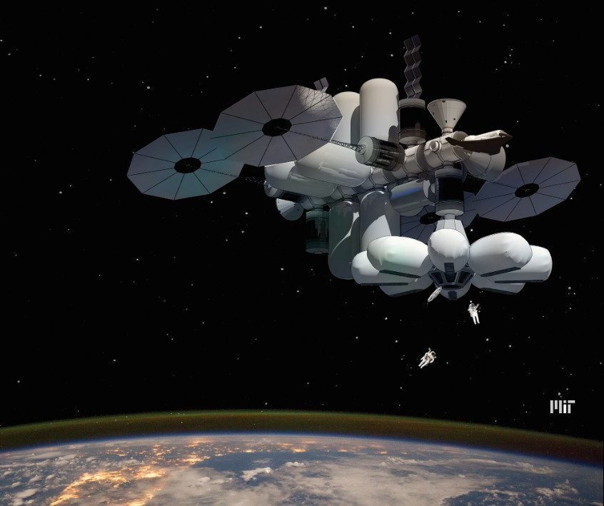 The MARINA (the Managed, Reconfigurable, In-space Nodal Assembly). Image: MIT/NASA