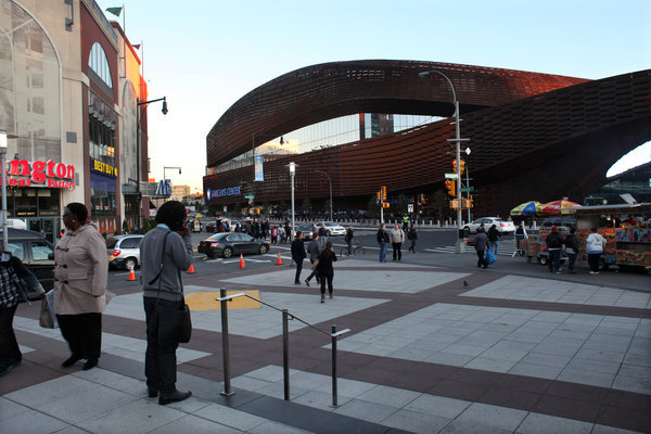 Barclays Center photo by Richard Perry for the New York Times