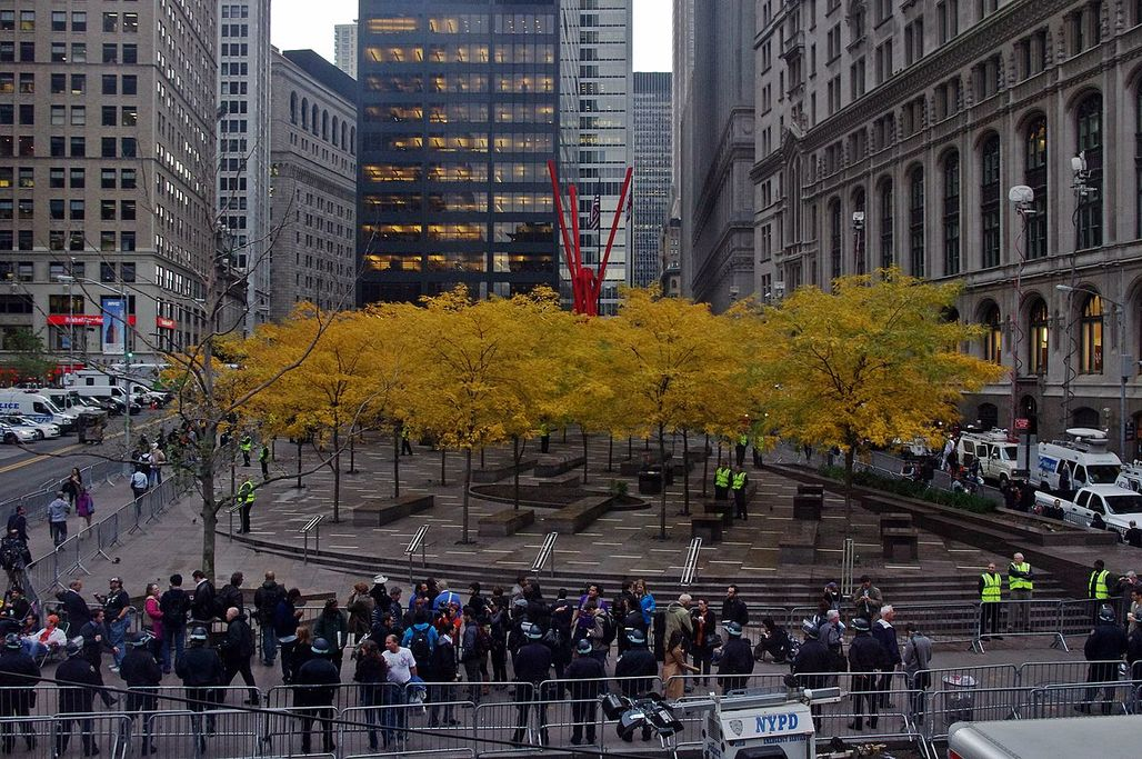 Zuccotti Park after the occupation, November 2011. (Photo: David Shankbone; Image via Wikipedia)