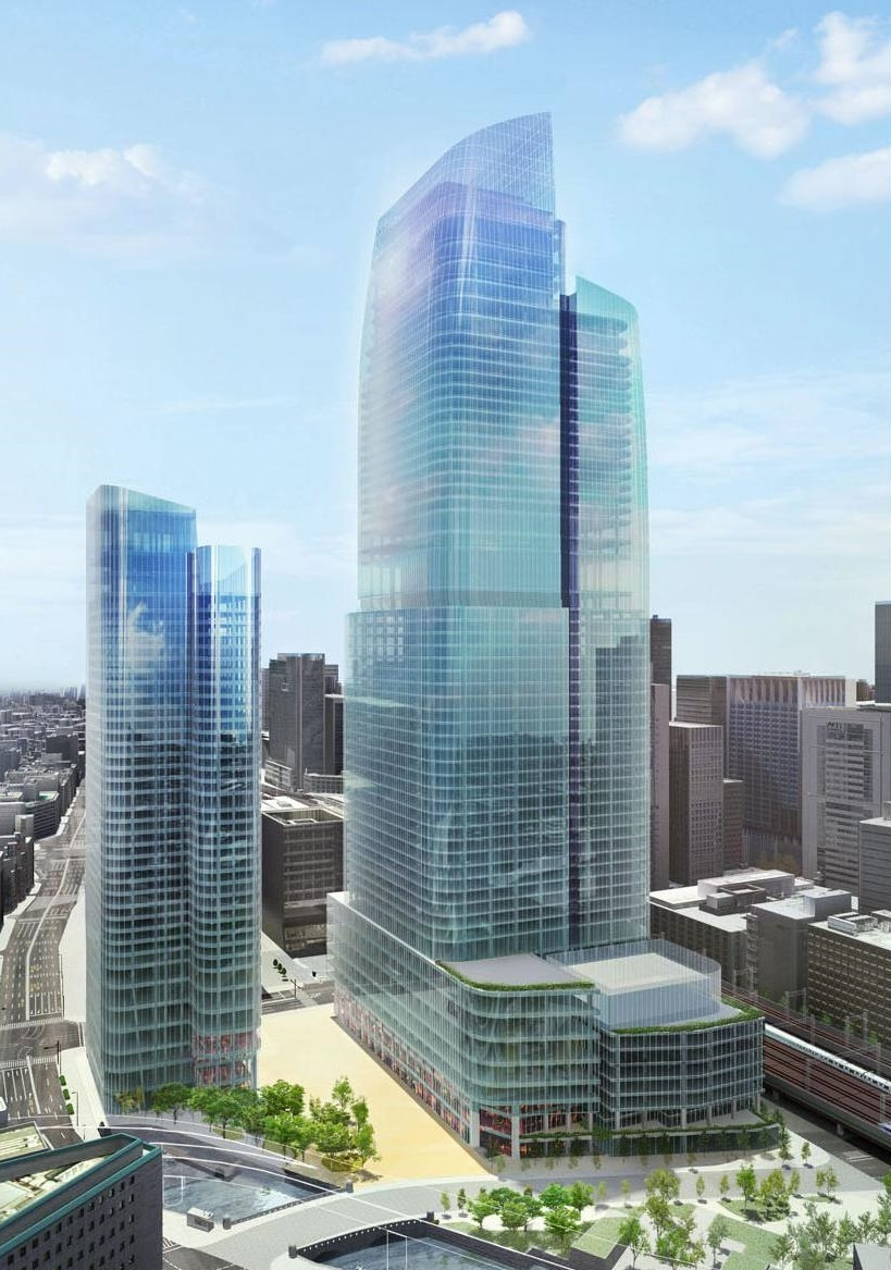 Rendering of the massive 'Tokiwabashi District Redevelopment Project' near Tokyo Station that was announced today. (Image: Mitsubishi Estate Co.)