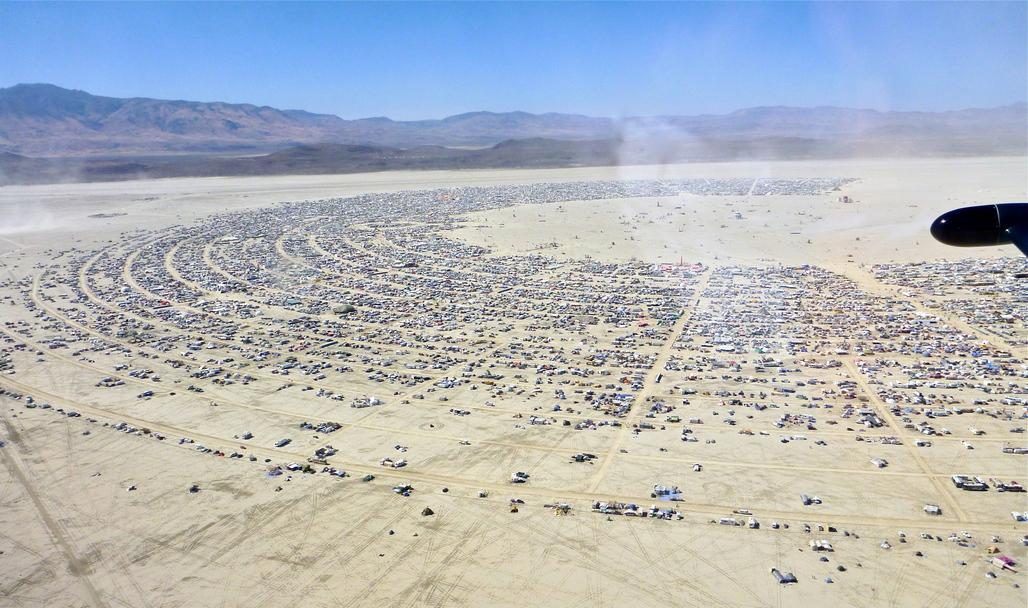 Black Rock City of Burning Man. Image via flickr/Steve Jurvetson.