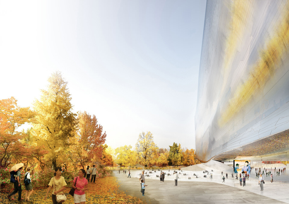 """""""To the East, a fusion of sky and gardens."""" © Ateliers Jean Nouvel & BIAD"""
