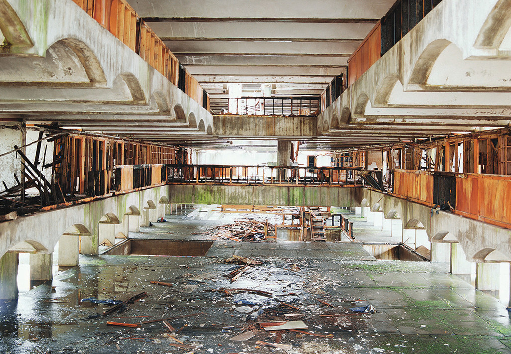 On display as part of ​'Futures Found' at the RA. Photograph of St Peter's Seminary, Cardross, 2002 © Dan Dubowitz
