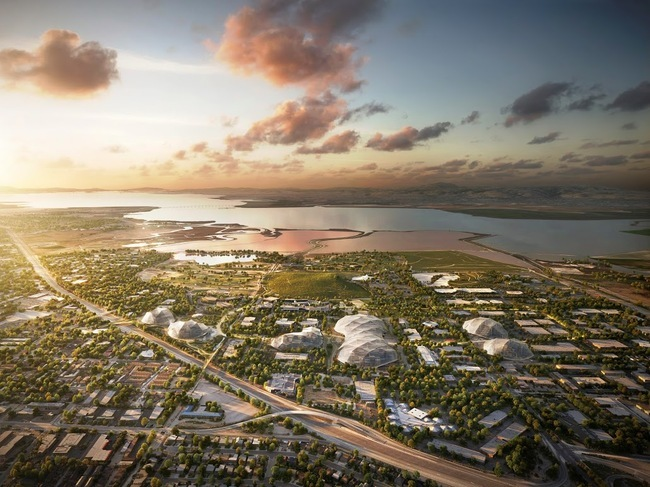 Render of the proposed Google campus plan by BIG and Heatherwick Studios. Credit: Google