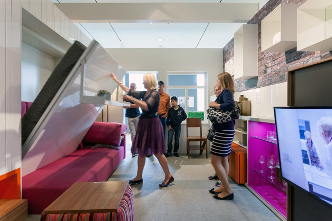 "An exhibit at the Museum of the City of New York on micro-apartments, called ""Making Room,"" includes a full-scale 325- square- foot model apartment."