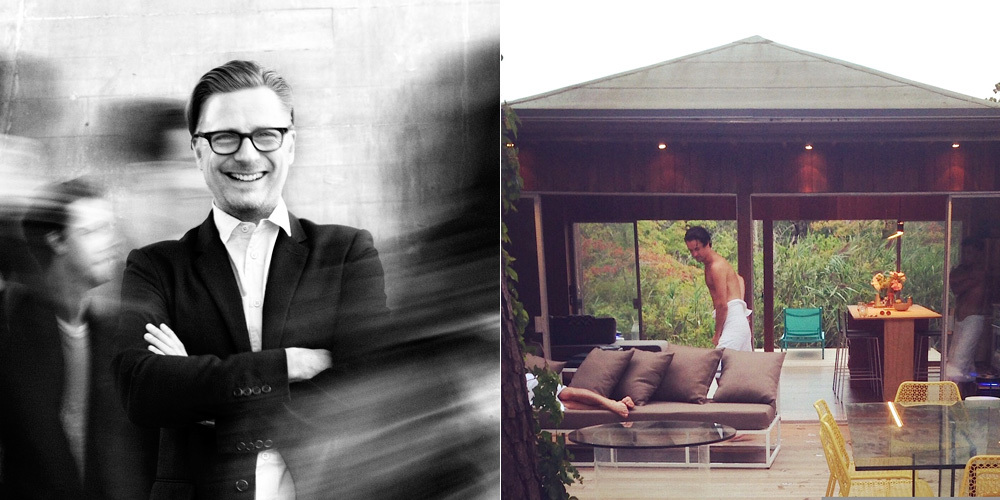 LEFT: Charles Renfro. Photo: Alessio Boni | RIGHT: Original home advertisement. Image Courtesy: Alessio Boni and Vincent Lisanti (via Chris Rawlins, creator of horacegifford.org)