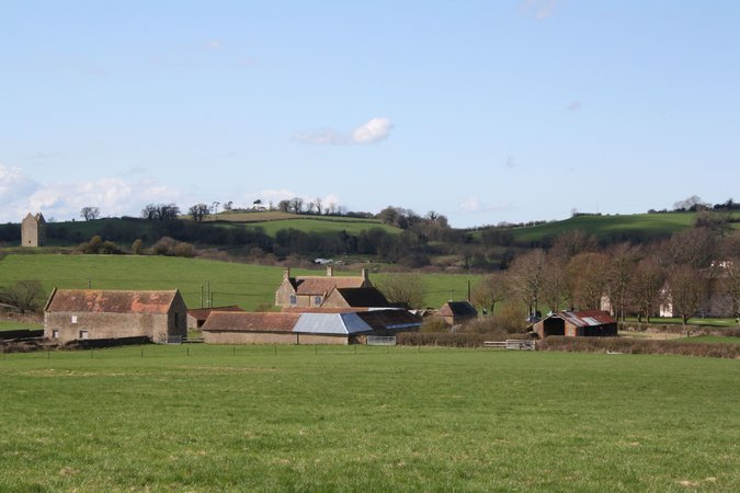 """Durslade Farm, near Bruton, England, is being coverted by the Swiss art dealers Hauser & Wirth into a destination for """"art, architecture and the remarkable Somerset landscape."""" (NYT; Photo: Aaron Schuman)"""