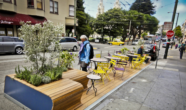 """Parking Day"" in San Francisco (Photo courtesy Rebar)"