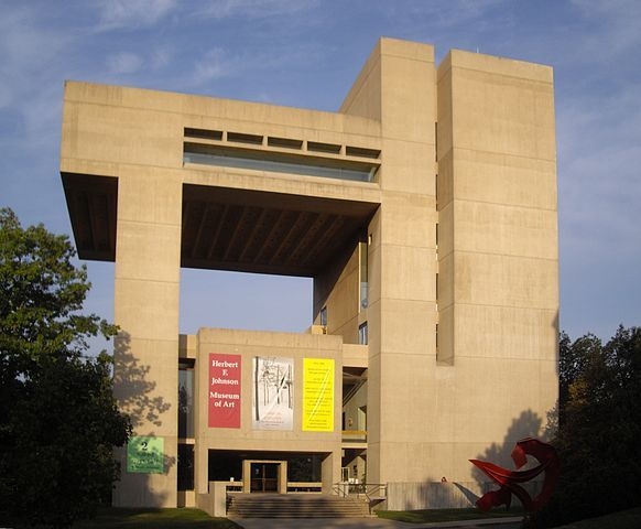 Cornell University's Johnson Museum of Art. Photo by Dmadeo via Wikipedia.