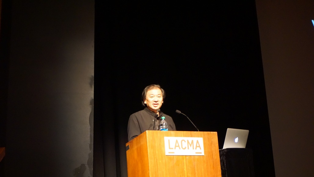 """Shigeru Ban delivered a lecture last night at the Los Angeles County Museum of Art entitled """"Works and Humanitarian Activities."""" Credit: Nicholas Korody"""