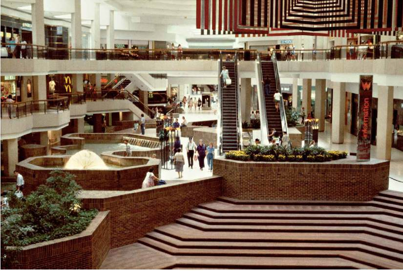 "1980s mall shot from Michael Galinsky's ""Malls Across America"", image via New Republic."