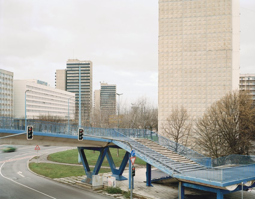 For Bezjak, these buildings are not just relics of a failed system, but also, simply, home. That can't be measured according to aesthetic or social categories, but only in terms of memories, he says. This photo shows the city of Halle in eastern Germany.