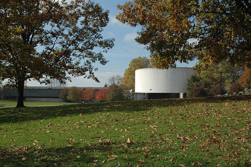 The Gettysburg Cyclorama Building was built in 1958 by Richard Neutra via WikiMedia