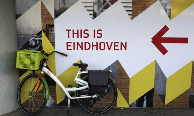 Eindhoven's typeface can be seen all over the city. (via theguardian.com; Photograph: Stuart Forster/Rex)