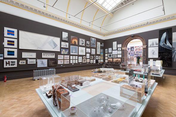 RA Summer Exhibition - 2014 Architecture Room. Photo: Benedict Johnson