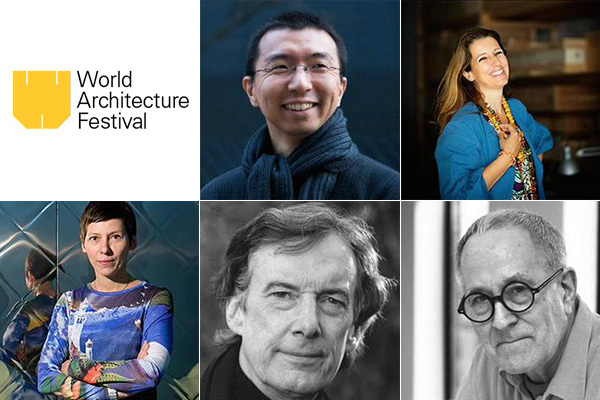 Only a few of WAF's 70 strong jury this year: Sou Fujimoto, Benedetta Tagliabue, Sir Peter Cook, Charles Jencks, Manuelle Gautrand (clockwise from top-center)
