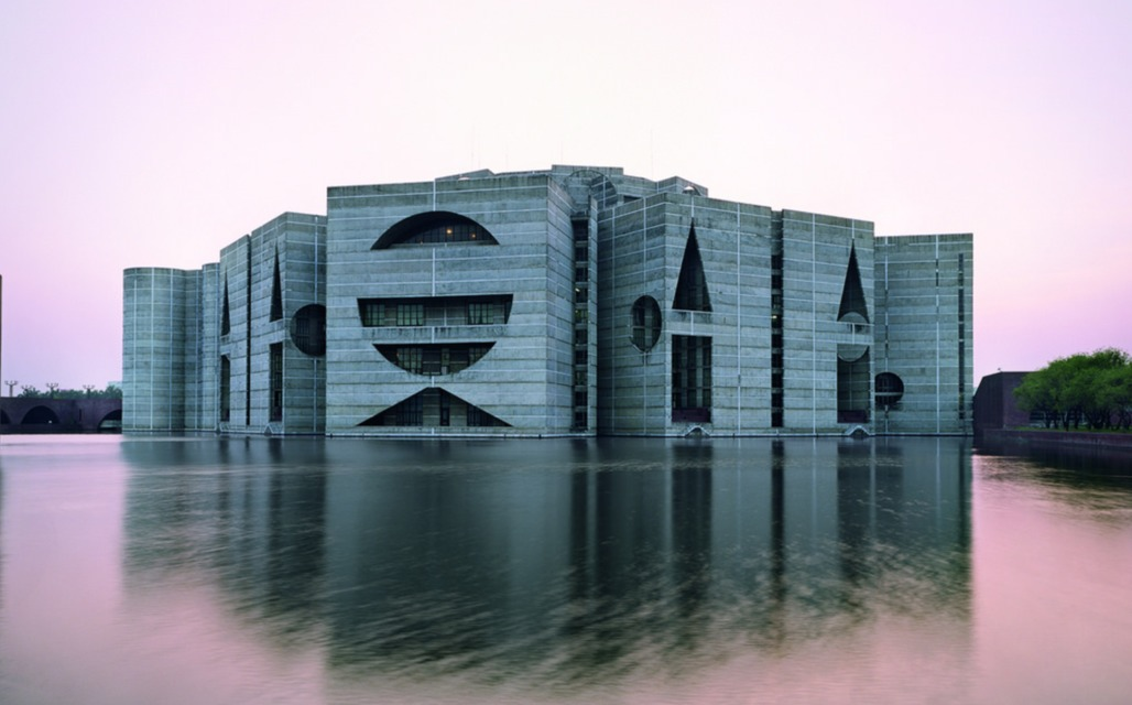 National Assembly Dhaka by Louis Kahn. Photo via Flicker (by 回顧展)