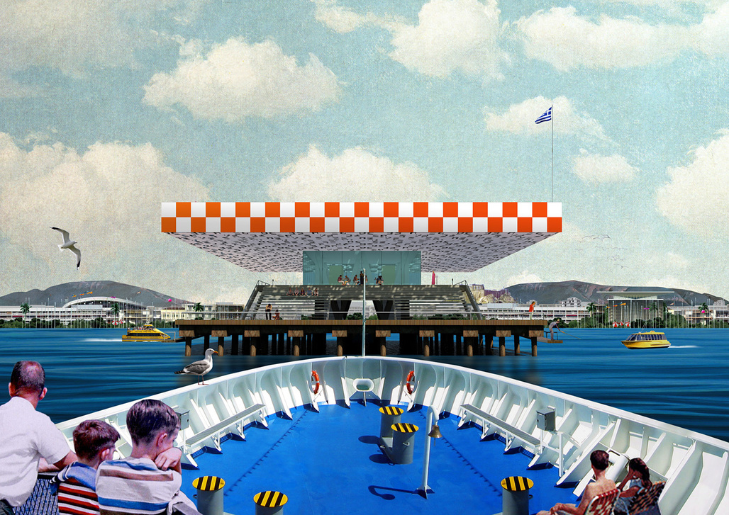"Point Supreme (Konstantinos Pantazis & Marianna Rentzou), ""Faliro Pier,"" 2012. Archival inkjet print. 23 1/2 x 33 inches. Courtesy of the artists."