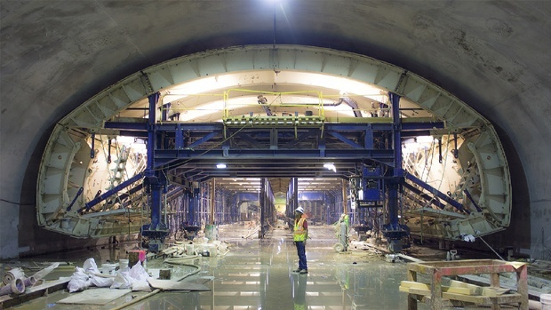 Construction at the 72nd Street Station, as of May 2013, on the Second Avenue subway line. (CityLab; Image: MTA)
