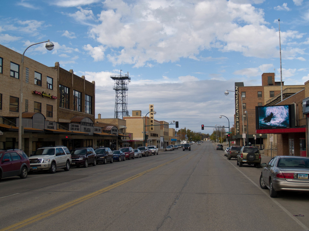 Willston, ND's business district. Image via Wikipedia.