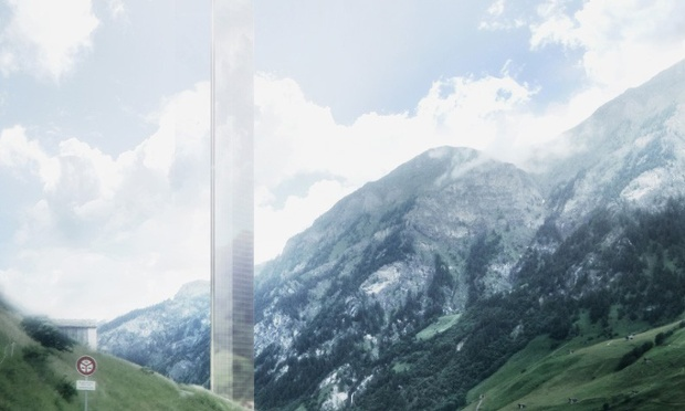 """The 381m tall subject of heated debate: Thom Mayne's proposed """"minimalist act"""" hotel tower, soon to become Europe's tallest skyscraper. (Rendering: Morphosis; Image via theguardian.com)"""