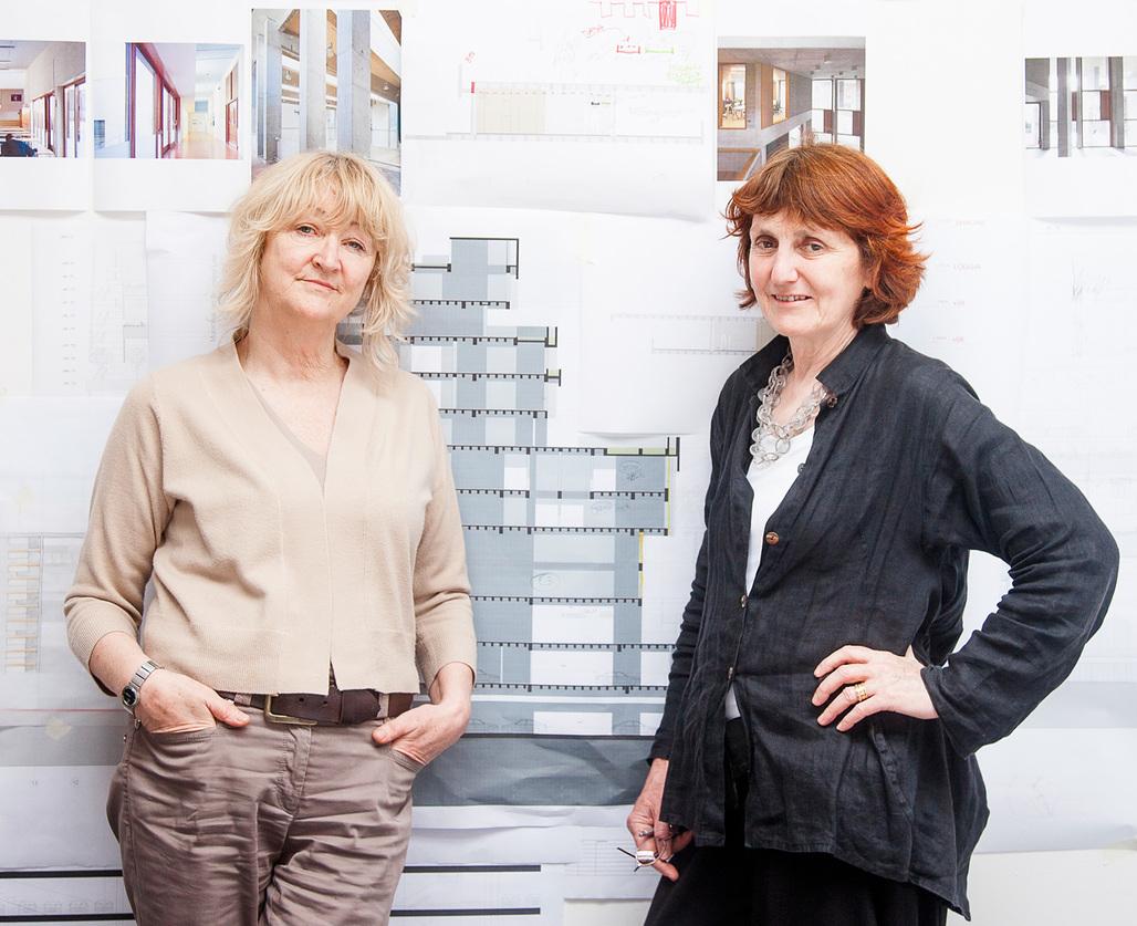 Yvonne Farrell and Shelley McNamara of Grafton Architects. Photo courtesy University of Virginia.