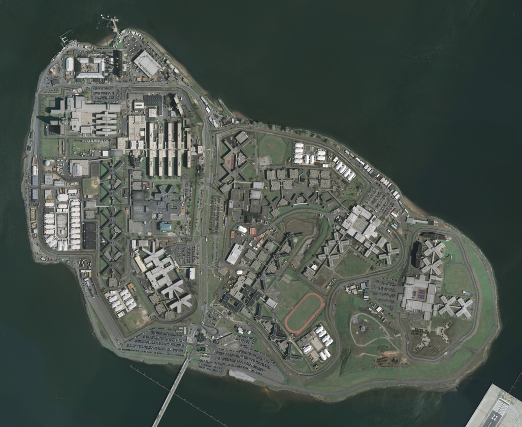 Aerial photo of Rikers Island, New York's penal colony. (Photo via Wikipedia)