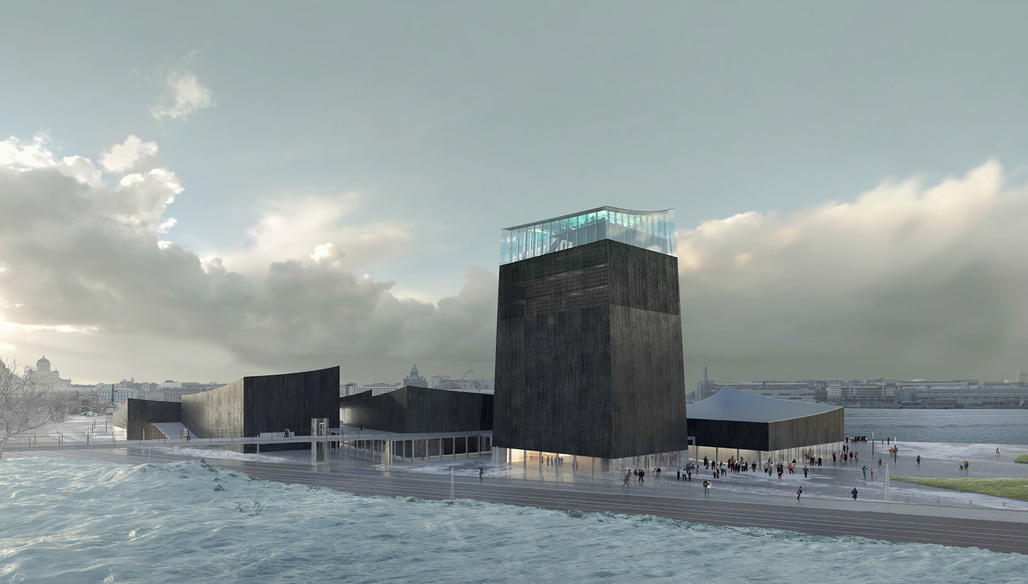 Rendering of the winning design for the new Guggenheim Helsinki by Moreau Kusunoki Architectes.