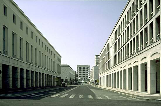 EUR was designed for a fascist-era expo that never took place. Image via theartnewspaper.com