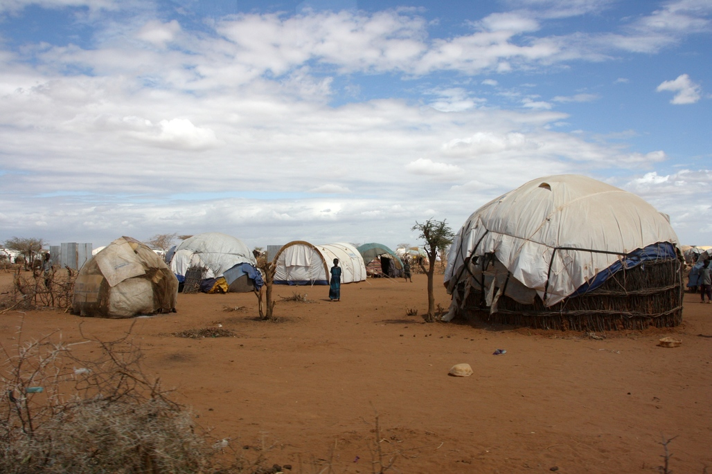 Refugee shelters in Dadaab, Kenya. Image via wikipedia.org.