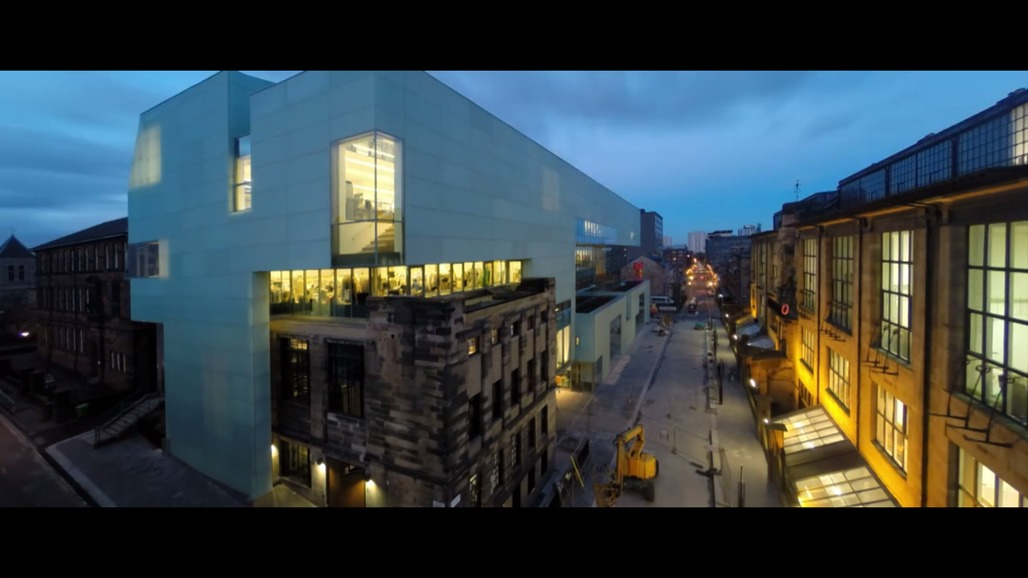 """Screen shot from Spirit of Space's """"Glasgow School of Art, Steven Holl Architects"""" film."""