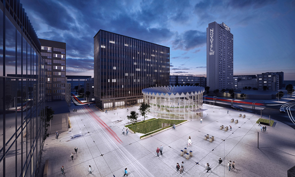 GowinSiuta Studio's winning design for the Warsaw Rotunda. Image: Gowinsiuta Studio.