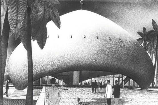 Walter Gropius and Hisham A. Munir's design for the University of Baghdad Campus (1957).
