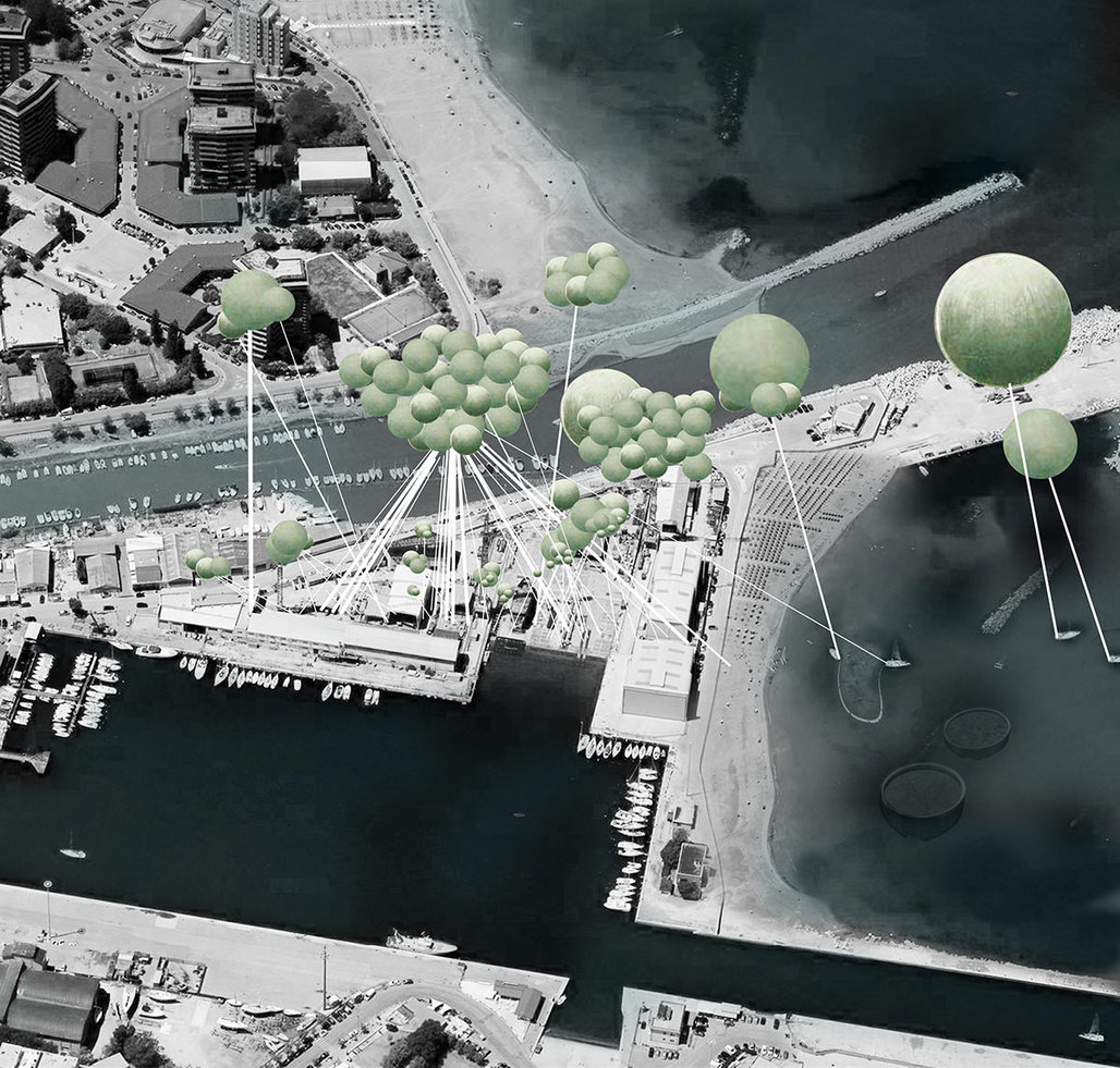 """""""Beyond the Clouds"""" - finalist Smart Harbor entry by Zuhal Kol, Carlos Zarco Sanz, and Jose Luis Hidalgo."""
