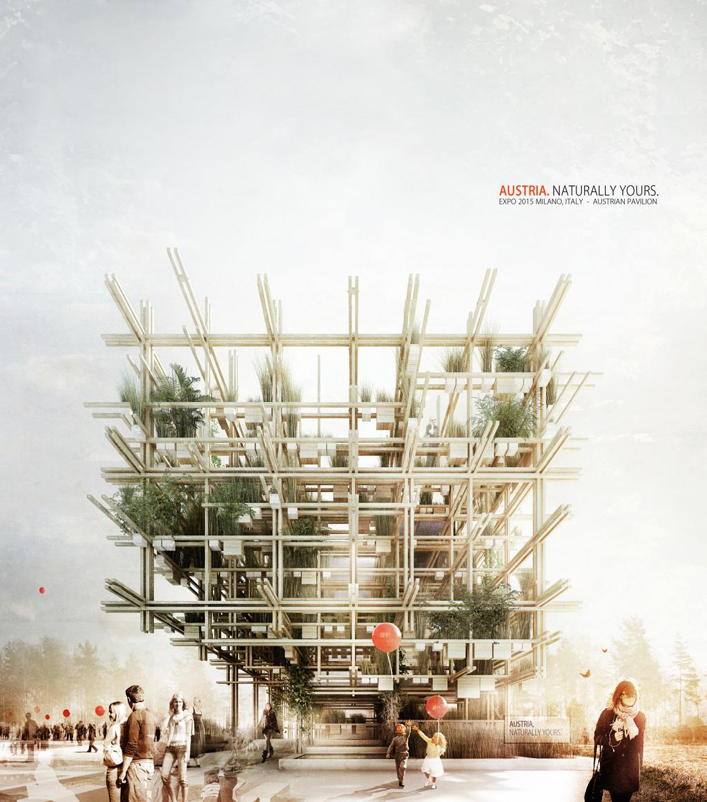 Austrian Pavilion for Expo 2015 by Chris Precht (penda) and Alex Daxböck. Image courtesy of Chris Precht and Alex Daxböck