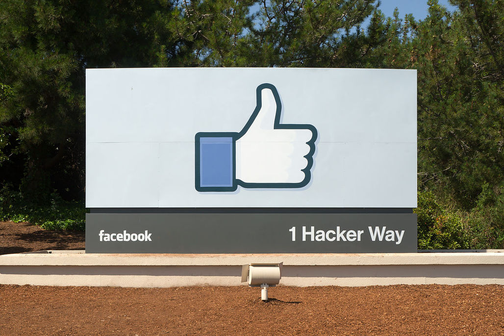 Facebook headquarters in Menlo Park, California. Image via wikimedia.org