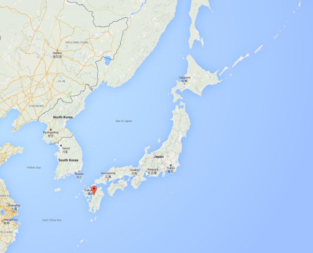 The earthquake occurred near Mashiki in Southern Japan. Image via googlemaps.com