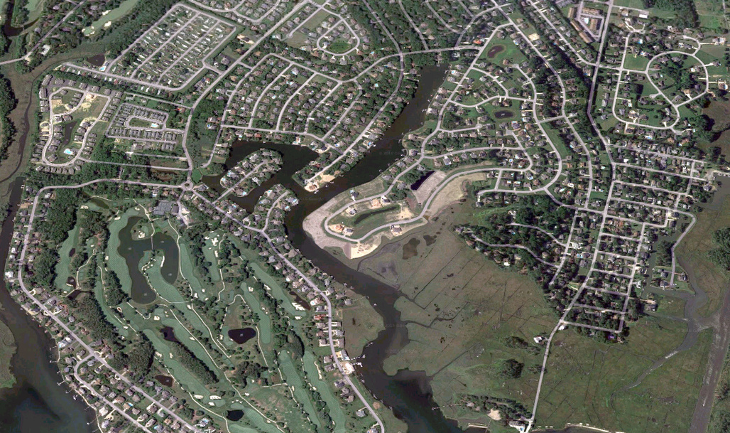 Disputes between homeowners and HOAs often turn into hefty legal battles in more upscale neighborhoods. (Image via Google Maps)