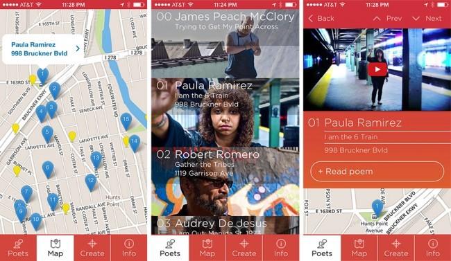 Interface of the Memories of the Future app. Image via urbanomnibus.net