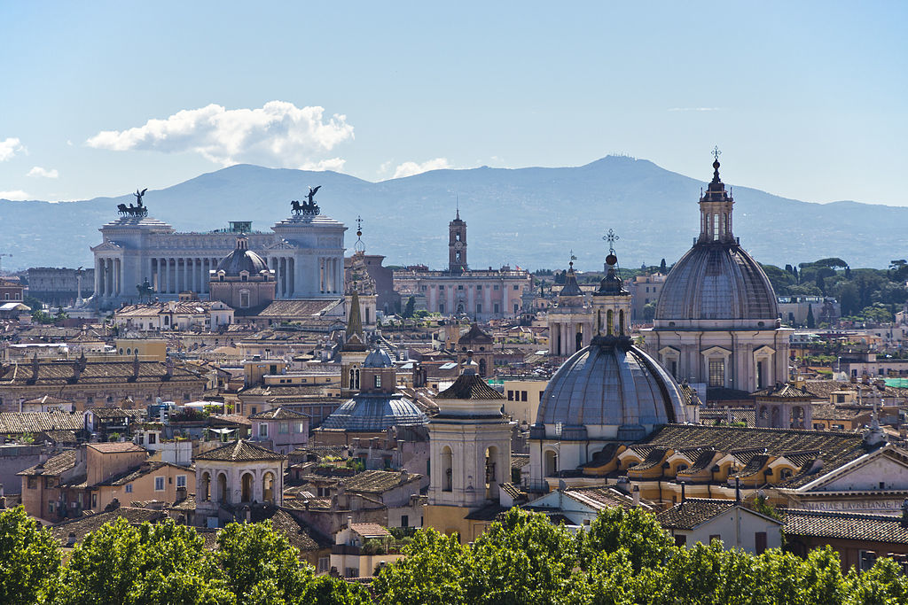 Rome's skyline, image via wikimedia.org