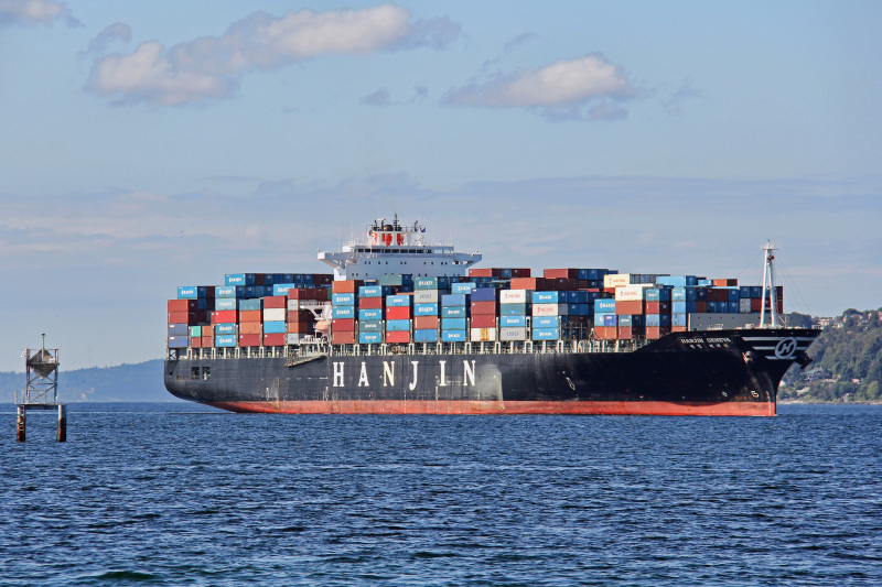 Hanjin Geneva, the shipping vessel with Moss aboard. Photo: Kyle Stubbs, via shipspotting.com.